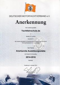 Anerkennung DMYV